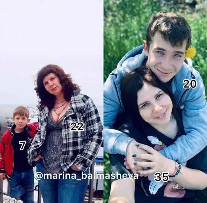 Maria Balmasheva și soțul său care în trecut îi era fiu vitreg