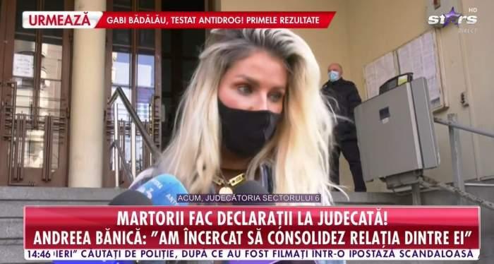 Andreea Bănică la proces
