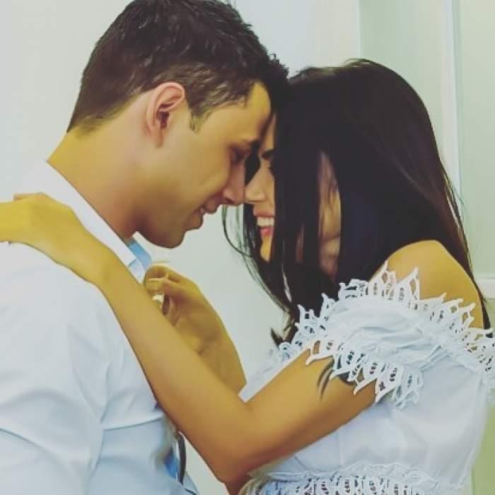 Oana Zăvoranu și Alex Ashraf îmbrățișați.