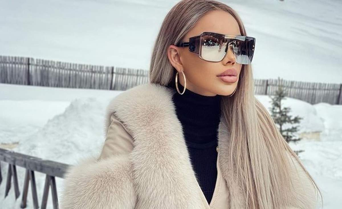 bianca dragusanu la munte cu ochelari