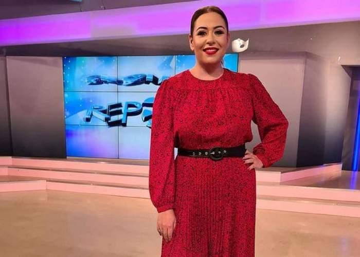 Oana Roman, în rochia roșie, la Antena Stars