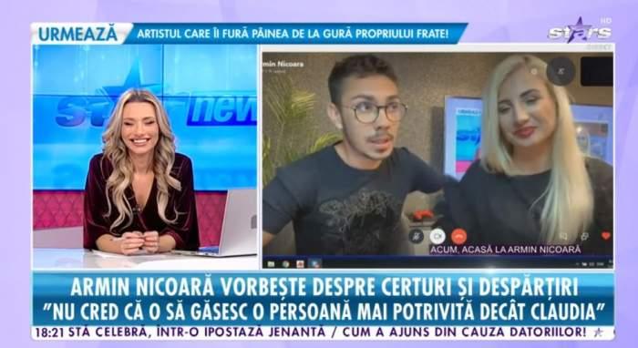Armin Nicoara si Claudia Puican sunt la artist acasa, ofera un interviu live pentru Antena Stars