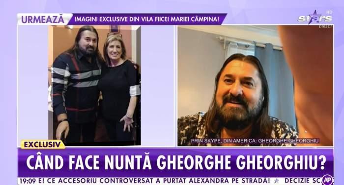 Colaj foto cu Gheorghe Gheorghiu și viitoarea sa soție