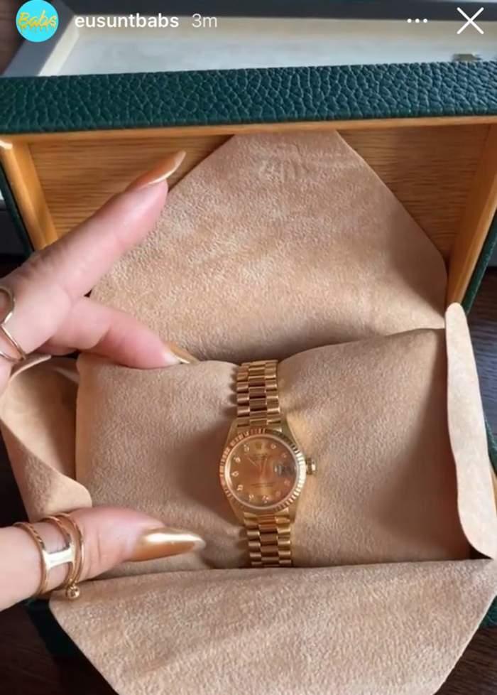Captură cu cadoul primit de Babs de la Dorian Popa.