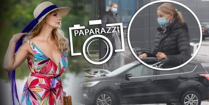 """Anastasia Lazariuc, cea mai """"scumpă"""" la vedere vedetă, surprinsă în ipostaze demne de o veritabilă gospodină. Fie ploaie, fie vânt, artista nu se abate de la treburile casnice / PAPARAZZI"""