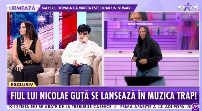 Narcisa Guță în platoul Showbiz Report