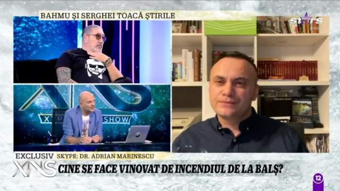 Medicul Adrian Marinescu este in direct la Xtra Night Show, vorbeste despre incendiul de la Matei-Bals