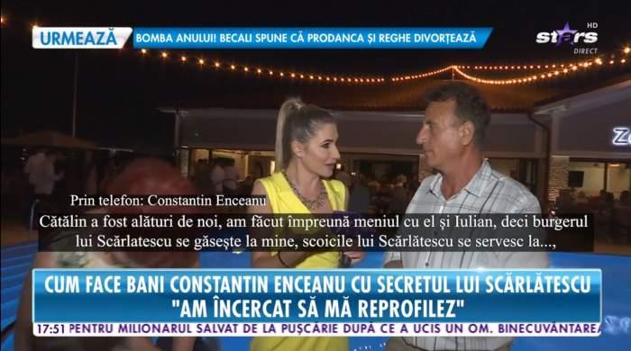 Constantin Enceanu ofera un interviu pentru Antena Stars despre restaurantul lui