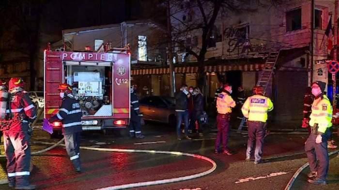 Pompierii sunt in fata spitalului Matei Bals noaptea