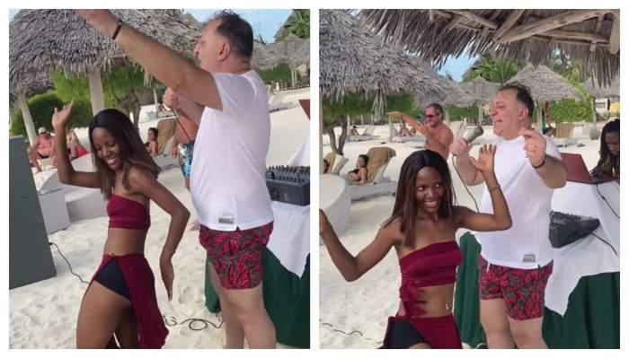 Vali Vijelie, show de senzație pe plajele din Zanzibar! Cum se distrează manelistul alături de dansatoarele exotice / VIDEO