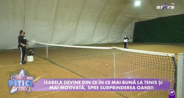 """Fiica Oanei Roman îi calcă pe urme Simonei Halep, la Antena Stars! Cum a ajuns Izabela să se apuce de tenis: """"M-am panicat, am dus-o la doctor"""" / VIDEO"""