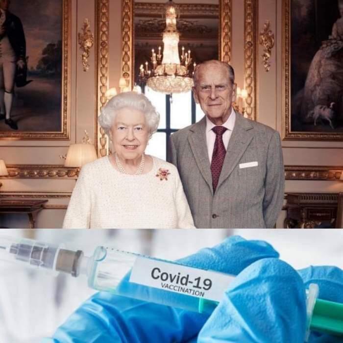 Regina Elisabeta și prințul consort Philip au primit vaccinul anti-covid