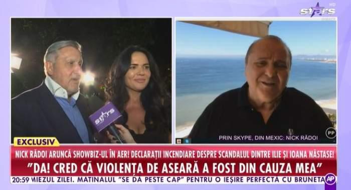 Captură video cu Nick Rădoi.