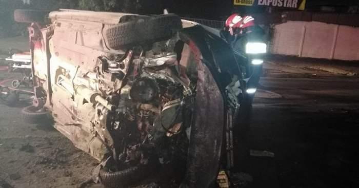 Accident grav pe centura municipiului Galați. Cinci persoane au fost transportate de urgență la spital