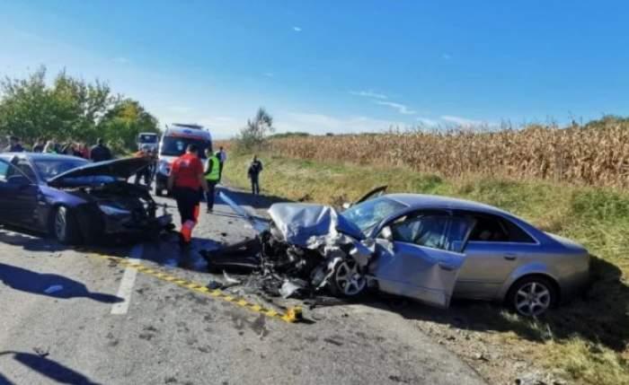 Imagini cu mașinile accidentate