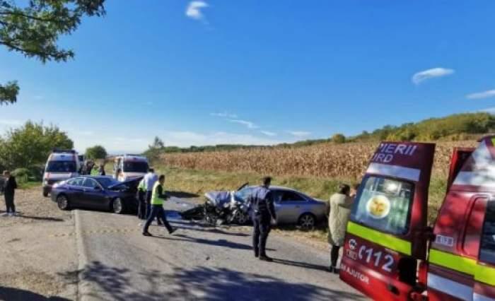 Imagini de la locul accidentului