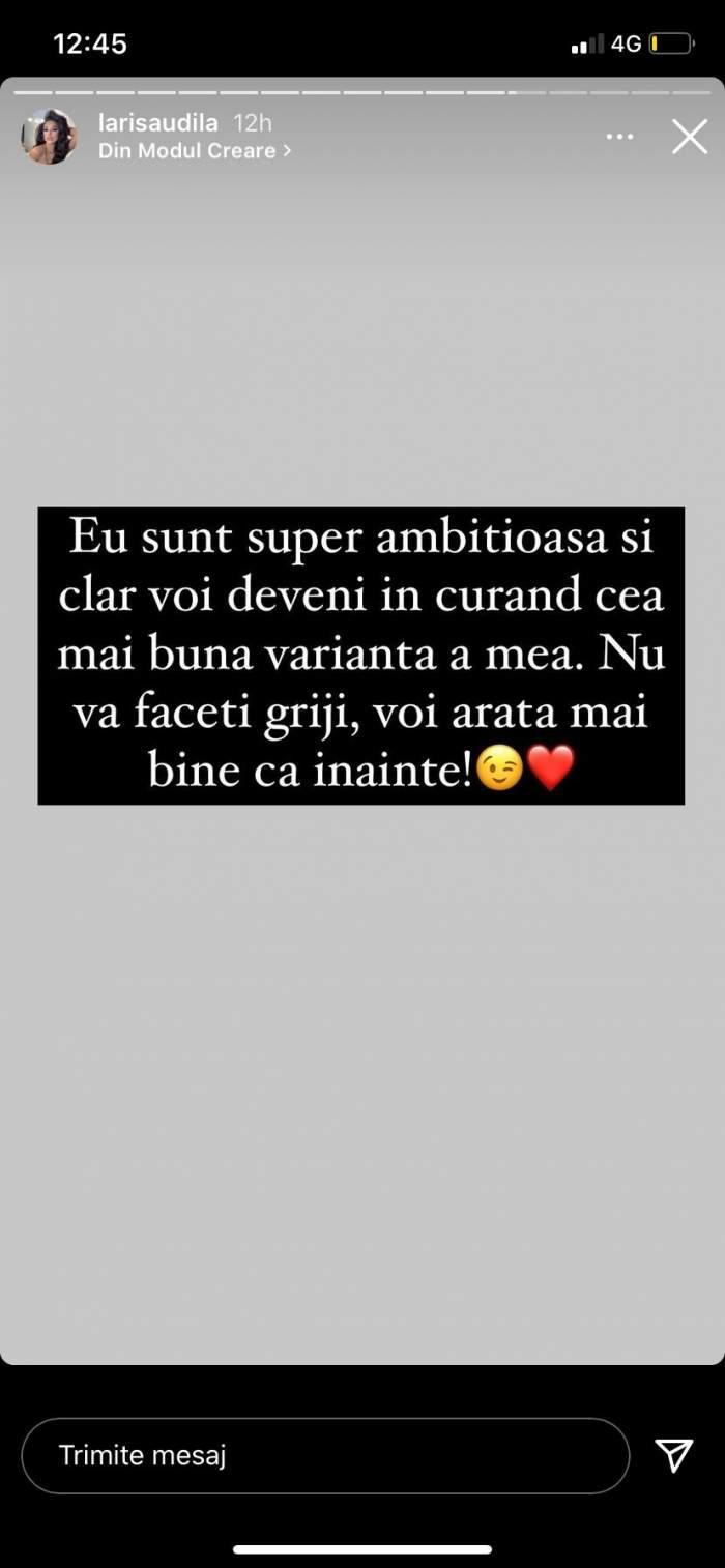 """Larisa Udilă a răbufnit pe Instagram, după ce a fost criticată că s-a îngrășat în perioada sarcinii: """"Am suferit niște transformări"""" / FOTO"""