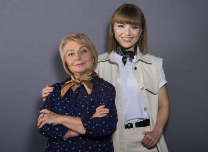 Alexandra și Anca Ungureanu îmbrăcate în alb și negru