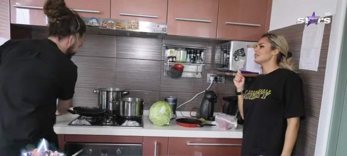 Chef Mino și Simona Hapciuc, în bucătărie
