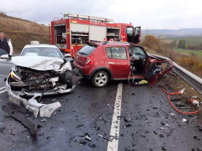 Accident teribil în Cluj! O femeie de 47 de ani a murit, după impactul puternic cu un alt autoturism