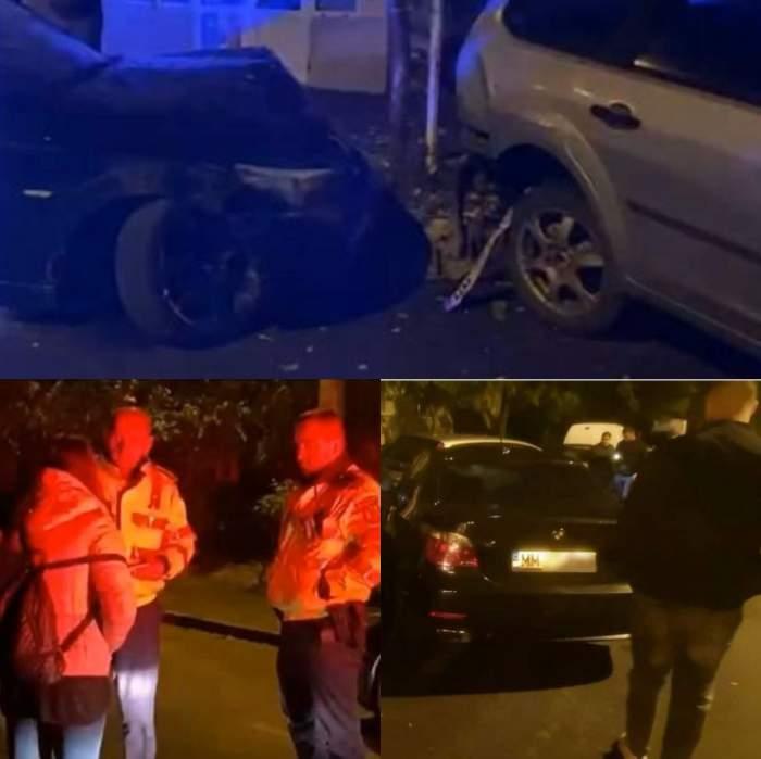 Șase mașini din Baia Mare au fost avariate, după ce o tânără s-a urcat beată la volan / VIDEO