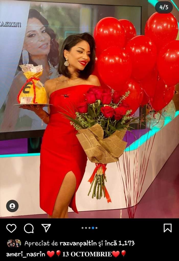 """Nasrin Ameri își sărbătorește astăzi ziua de naștere! Cum a fost așteptată de către colegi frumoasa prezentatoare de la Antena Stars: """"M-ați surprins"""" / VIDEO"""