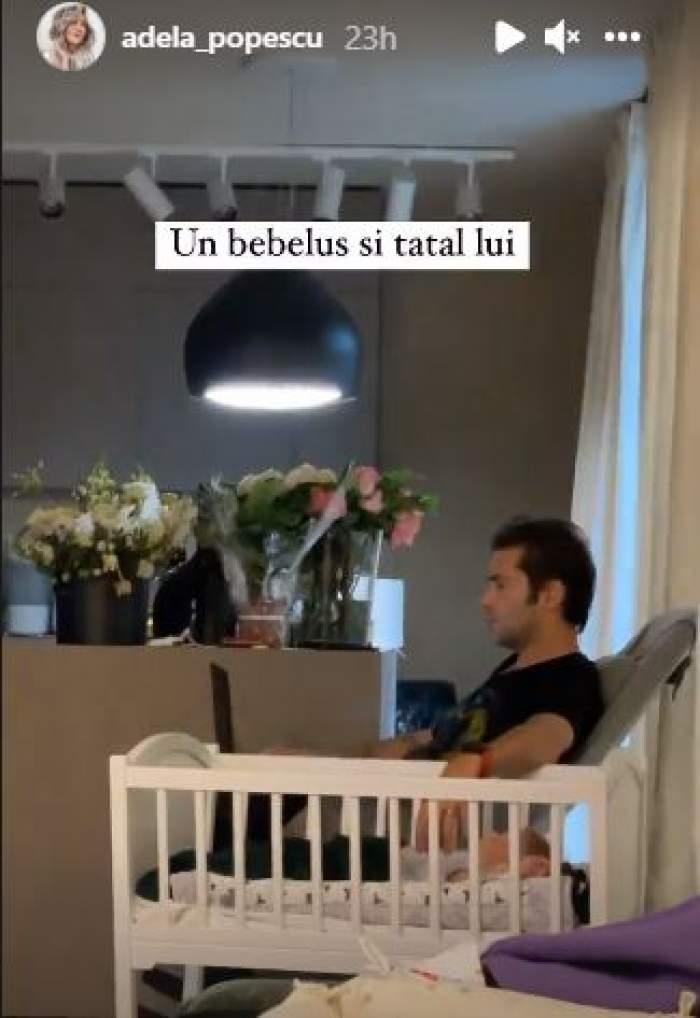 Radu Vâlcan, prima imagine cu chipul bebelușului. Cum arată mezinul familiei / FOTO