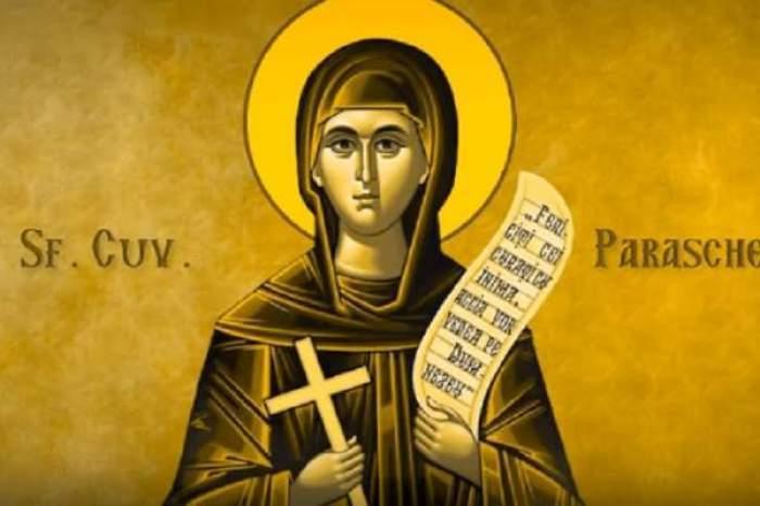 Calendar ortodox 14 octombrie 2021. Sărbătoare cu cruce roşie de Sfânta Cuvioasă Parascheva