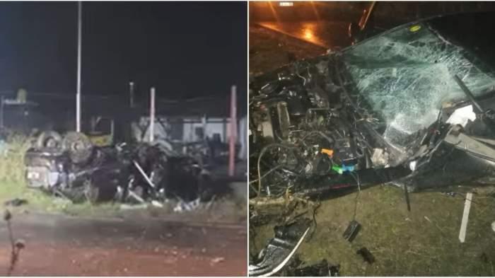 Accident cumplit lângă Capitală! Două persoane au murit și a treia este în stare gravă, după ce autoturismul s-a izbit puternic de un stâlp