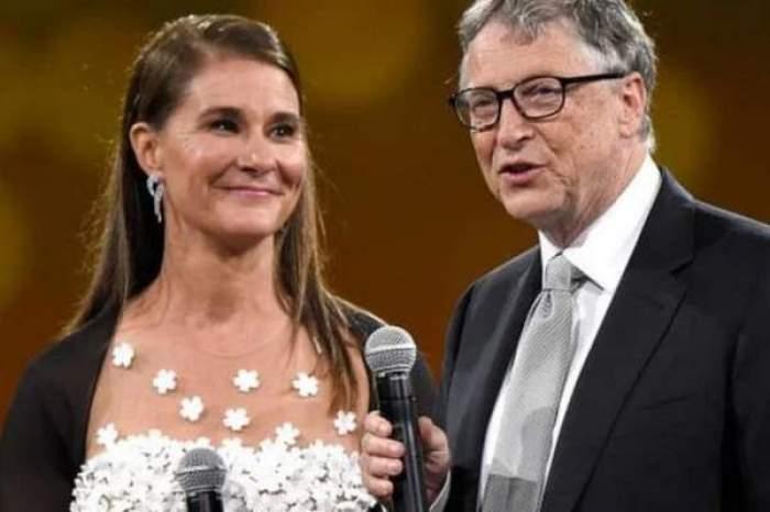 Bill Gates și soția, zâmbitori și eleganți