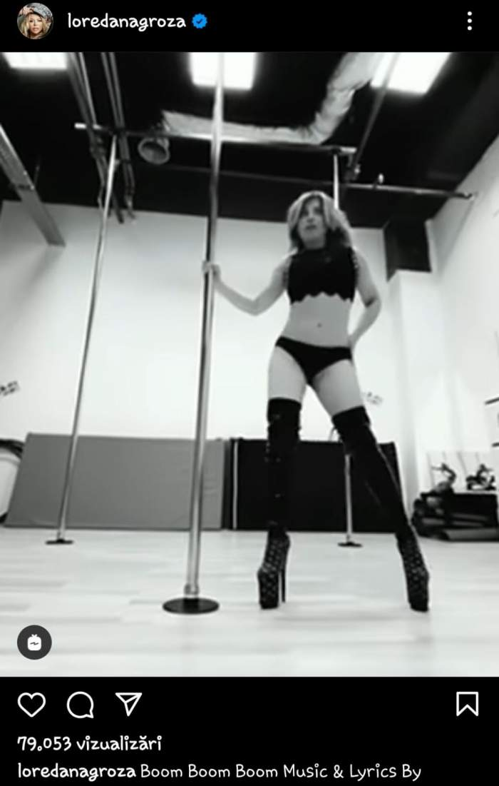 """Loredana Groza s-a filmat în timp ce dansează la bară, iar apoi a făcut videoclipul public. Reacțiile fanilor nu au întârziat să apară: """"Criza femeii de 50 de ani"""" / FOTO"""