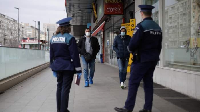 politisti si oameni afara