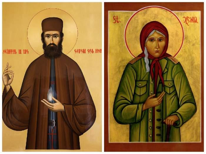 Sfântul Efrem cel Nou și Sfânta Xenia