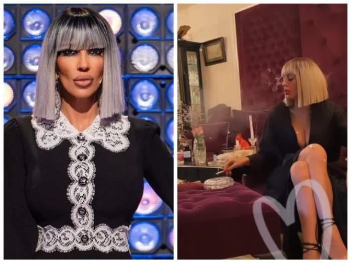 Raluca Bădulescu, fumează în casă de ziua ei de naștere