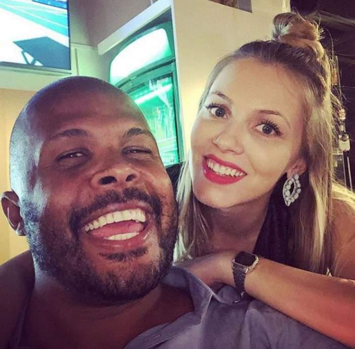 Cabral și Andreea Ibacka, zâmbitori