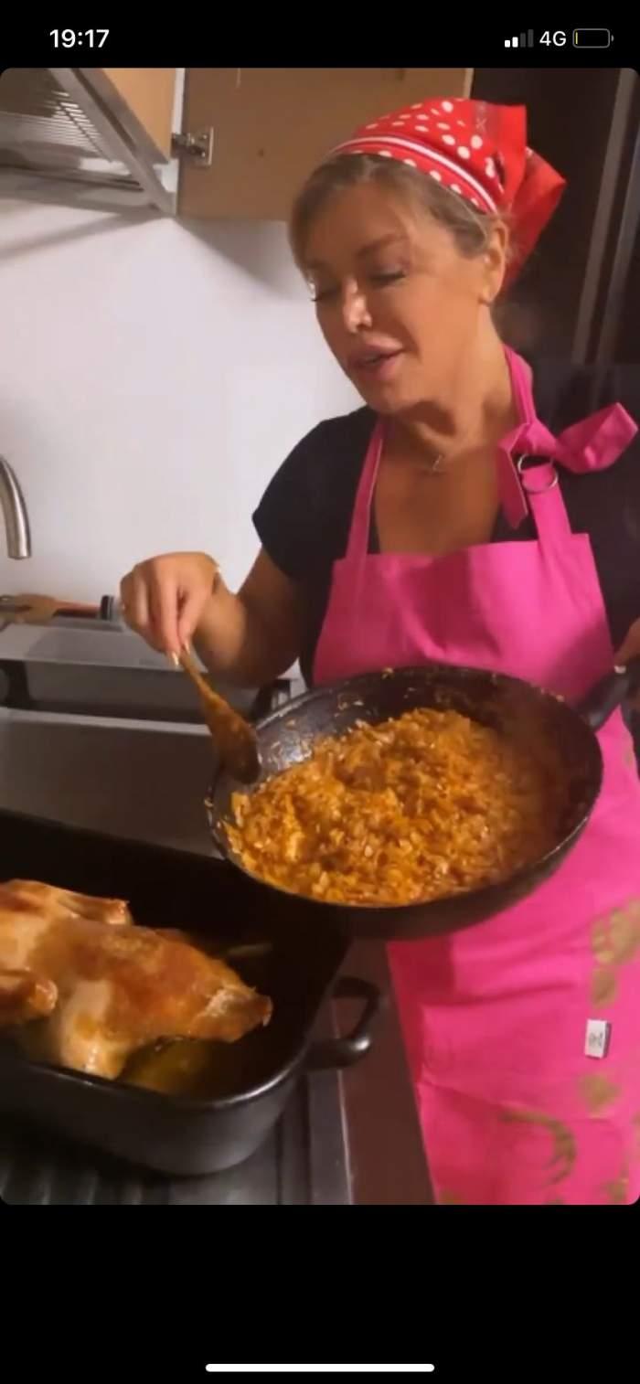 Loredana Groza, ipostază inedită în bucătărie. Cum s-a filmat jurata de la X Factor / FOTO