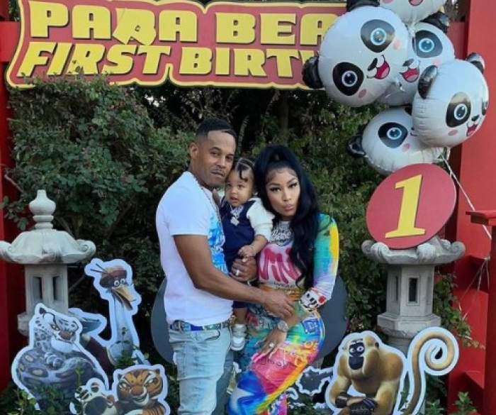 Nicki Minaj, alături de soț și fiu