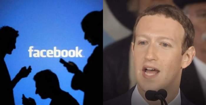 Colaj Facebook și Marck Zuckerberg