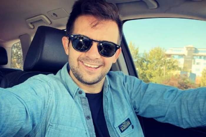 Robert Tudor, selfie în mașină