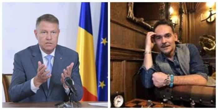 Colaj foto cu Răzvan Simion și Klaus Iohannis