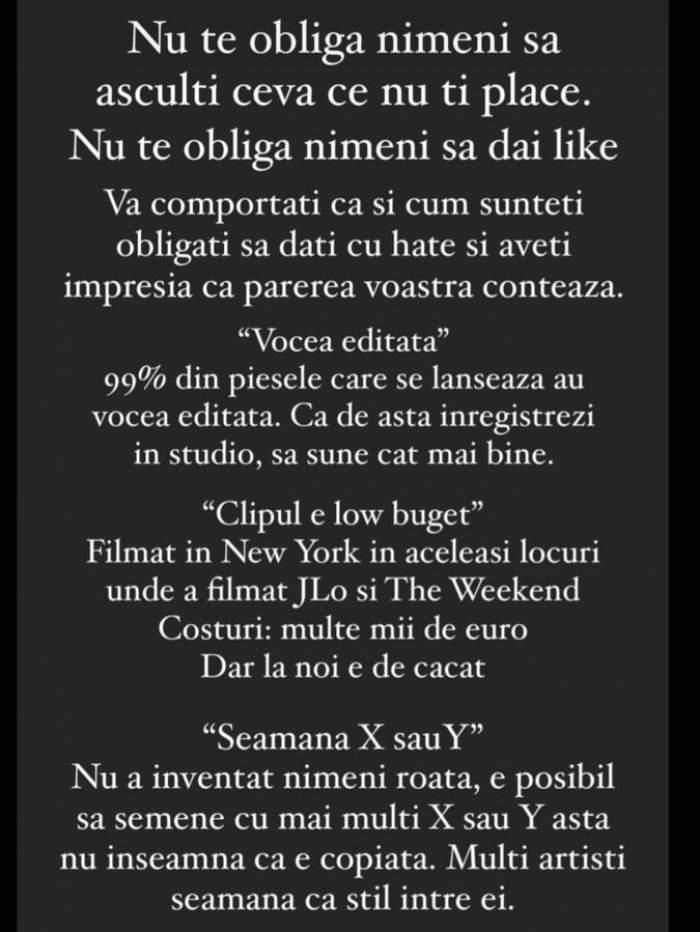 """Speak a răbufnit după ce internauții au criticat-o pe Ștefania pentru cariera sa muzicală: """"Dați-vă cu părerea la voi în sufragerie"""" / FOTO"""