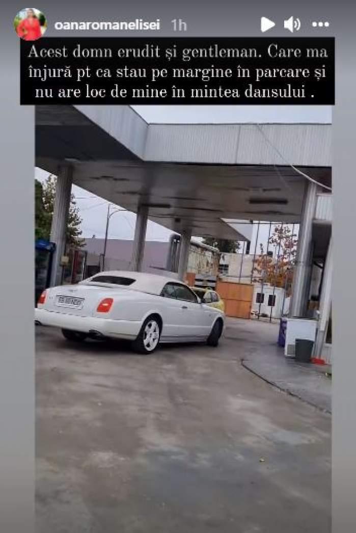 """Oana Roman, înjurată de Dan Nicorescu într-o benzinărie: """"Acesta este nivelul de educație"""". Vedeta a filmat totul / VIDEO"""