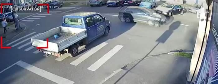 Accident în Satu Mare! O femeie de 60 de ani a fost lovită pe trecerea de pietoni, de un șofer neatent / VIDEO