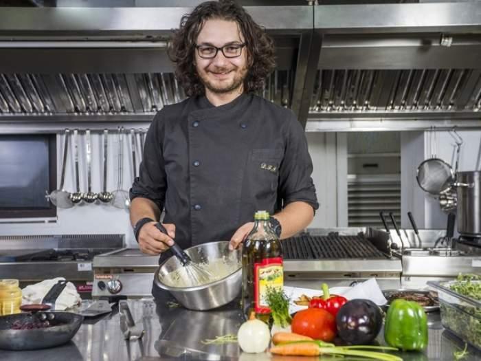Chef Florin Dumitrescu, în bucătărie