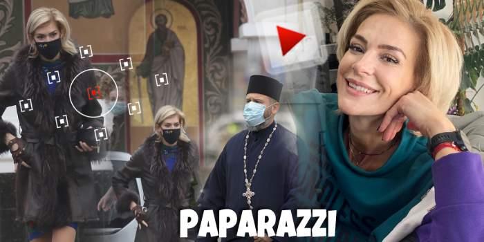 Ce se întâmplă cu Roxana Ciuhulescu. Vedeta, surprinsă la biserică, în timp ce vorbea cu preotul / PAPARAZZI