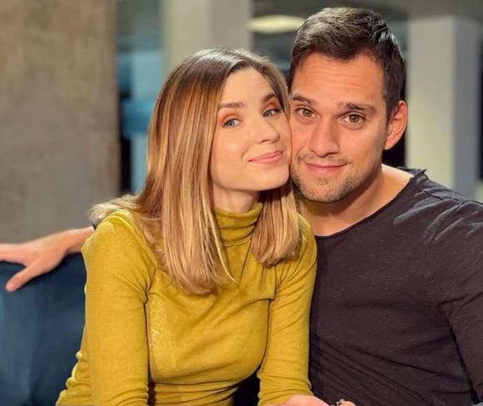 Cristina Ciobănașu și Vlad Ghemrna, zâmbitori și îmbrățișați