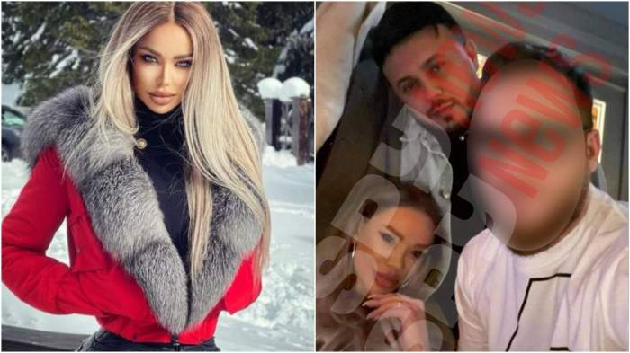 Colaj cu Bianca Drăgușanu la munte/ Bianca Drăgușanu și Gabi Bădălău în perioada în care formau un cuplu.