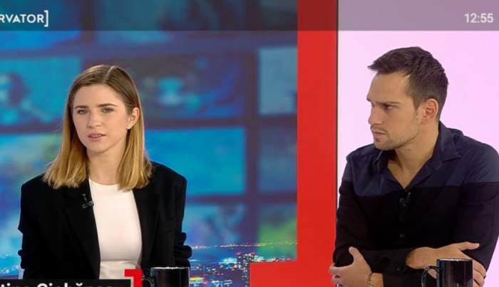 Cristina Ciobănașu și Vlad Gherman în platou la Observator.