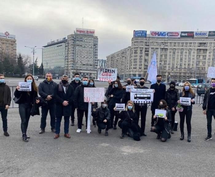 Elevii români au protestat astăzi în fața Guvernului