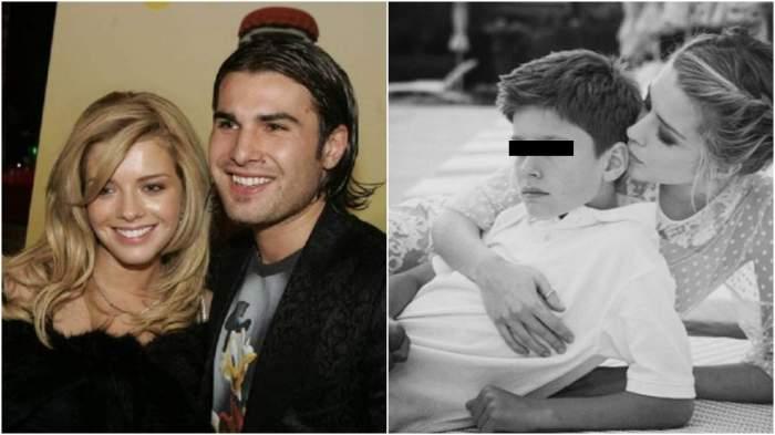 Colaj cu Alexandru Dinu și Adrian Mutu în perioada în care formau un cuplu/ Alexandra Dinu și Mario.
